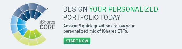 Design your personalized portfolio today. Answer five questions to see your personalized mix of iShares ETFs.