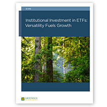Institutional investment in ETFs: Versality fuels growth