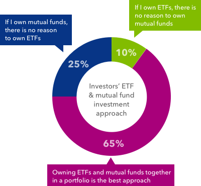 Investors' ETF & mutual fund investment approach